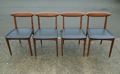 Set Of 4 Vintage Retro Chairs    Delivery Available