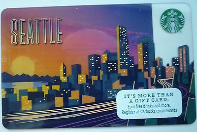 Starbucks Coffee Seattle City Card 2017 New Skyline At Sunset #6138 No Value