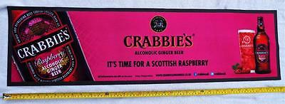 Crabbies Alcoholic Ginger Ale Long Rubber Backed Pub Bar Towel / Runner.
