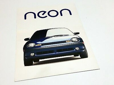 1995 Dodge Plymouth Neon Sport Coupe Launch Preview Brochure