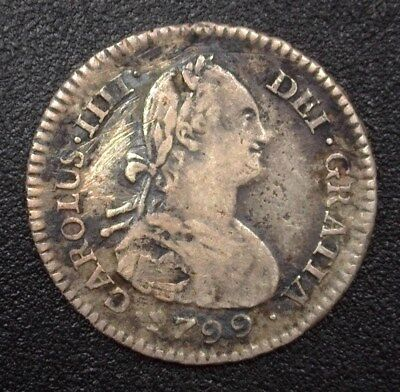 Bolivia 1799-Pts Pp Silver Real  Km#70  Very Fine+