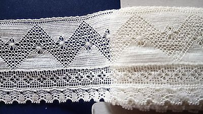Pretty Antique Cluny Cotton Lace Edging Frill Dolls Dresses Reenactment Costume