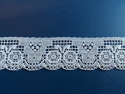 English Cluny Cotton Lace White Little Edging Miniatures Dolls Bears Dress Trims