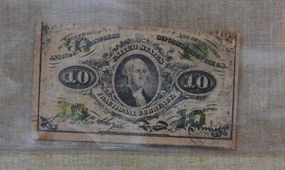1863  10 Cents Fractional Currency - 10C - United States Fractional Currency