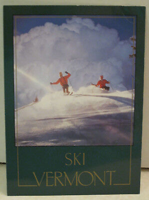 Snow Skiers in Great Snow Mountain Vermont Postcard