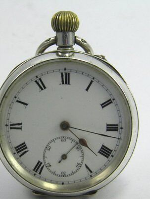 Antique late 19th century Swiss .935 silver cased crown wind pocket watch 5