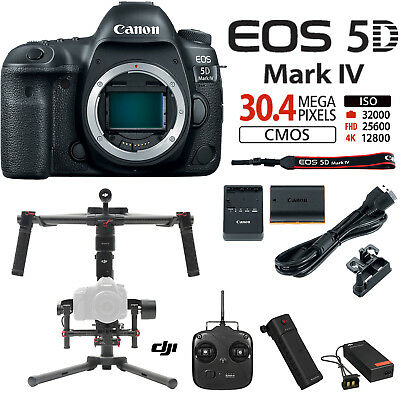 Canon EOS 5D Mark IV 30.4MP DSLR Camera-Body DJI Ronin M Brushless Gimbal Bundle