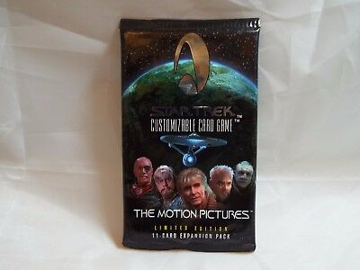 Star Trek Ccg The Motion Pictures Sealed Booster Pack Of 11 Cards