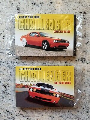 2 Packages ~ 2009 Dodge Challenger Collector Baseball Cards  NEW SEALED PACKAGE