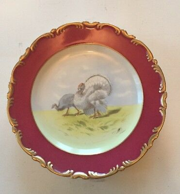 "9 3/4"" China Antique Vintage Turkey Plate"