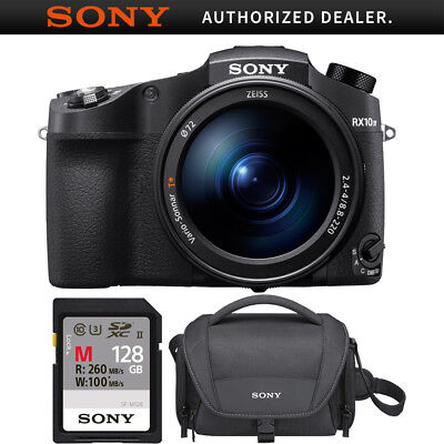 Sony RX10 IV Cyber-Shot 20.1MP Camera 24-600mm F.2.4-F4 lens 128GB Case Bundle