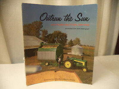 1959 vintage John  Deere advertising Brochure Push button drying Outrun the Sun