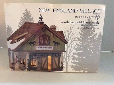 Dept. 56 New England Village - South Deerfield Livery Stable #808915
