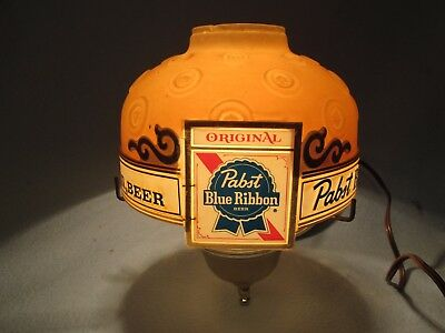** Vintage Pabst Blue Ribbon Wall Mount Light Beer Sign Lamp Sconce PBR **
