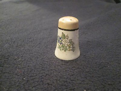 Vintage Single Floral Salt Pepper Shaker - Japan