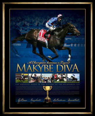 Makybe Diva Signed Framed Limited Edition Champion Legend Print Boss Freedman