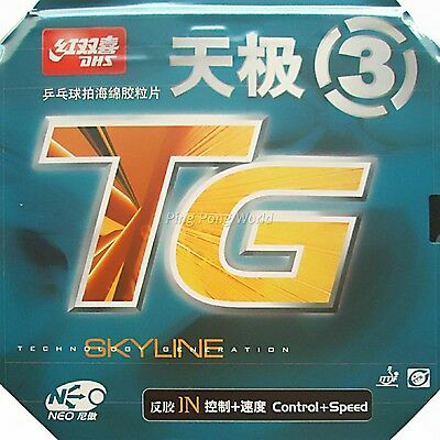 DHS NEO Skyline-TG3 TG-3 Pips-In Rubber with Sponge 2.15-2.2mm  NEW black