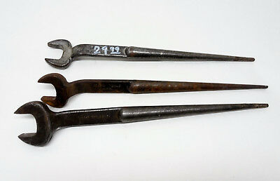 "3 Klein Tools 3/4"" (2), 7/8""  Spud Wrench Set 3/TOOL"
