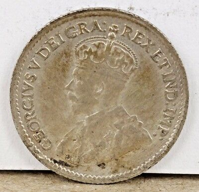 1920 Canada George V - 5 Cents Silver!