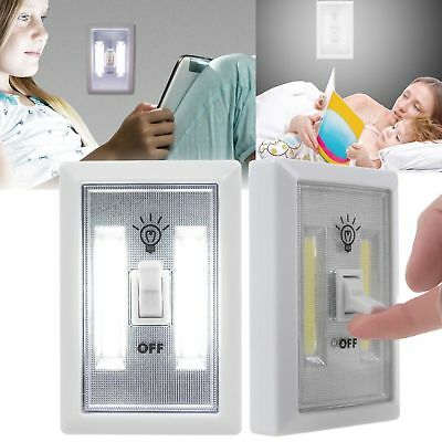 2/5 Pack Useful COB LED Wall Switch Wireless Closet Cordless Night Lights Lamp