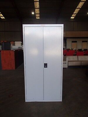 Stronghold Office/Home 3 Shelves Stationary Cabinet Grey Metal 34385/92
