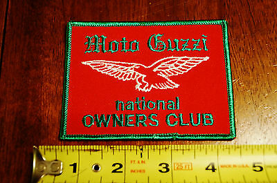 RARE Moto Guzzi National Owners Club Motorcycle Patch