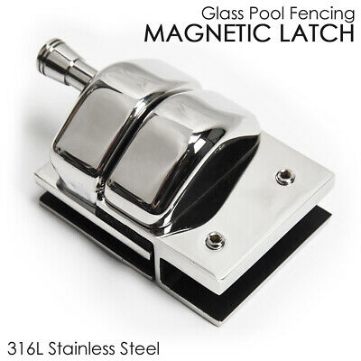 FULL STAINLESS STEEL Magnetic Latch - Frameless Glass Pool Fencing SELF LOCKING