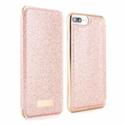 OFFICIAL TED BAKER  iPhone 8 Plus SPRITSIE Mirror Folio phone Case - Rose Gold