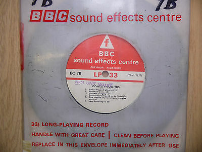 """BBC Sound Effects 7"""" Record - Comedy Sound, Train Crash, as used on Goon Show"""
