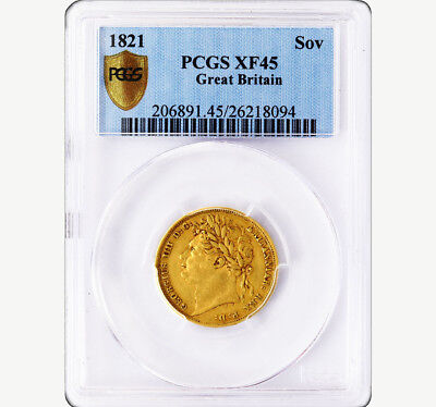 King George The Iiii 1821 Gold Sovereign Pcgs Ef45