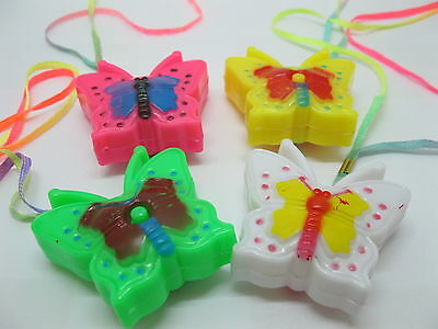 48X Flashing Butterfly Necklace For Disco Party Mixed Color