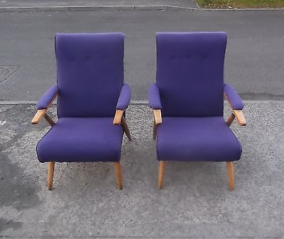Pair Of Vintage Reclining Armchairs    Delivery Available