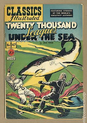 Classics Illustrated 047 20,000 Leagues Under the Sea (1948) #1 VG+ 4.5
