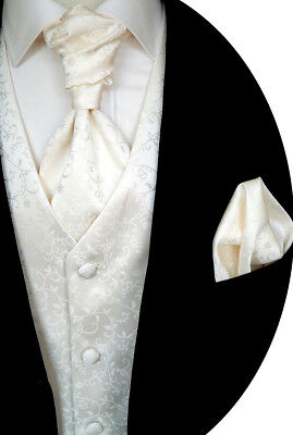 Wedding waistcoat with Plastron,Handkerchief,Alternative Plastron Nr. 17.3