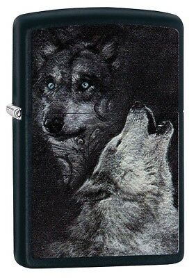 "Zippo ""wolf"" Black Color Lighter ** New **"