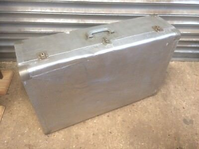 Old vintage mid century lightweight Aluminium Silk lined Suitcase shop display