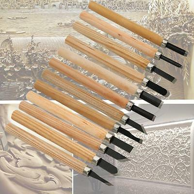 12 pcs Wood Carving Carvers Working Chisel Tool Set Mini Chisels Wooden Handy SA