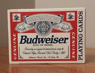 Budweiser Playing Cards #350 Plastic Coated Made by United States Playing Co.