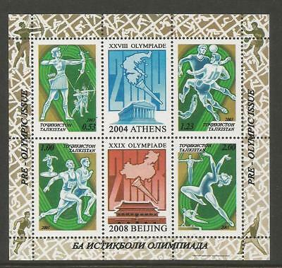 Tajikistan 2003 Olympic Games  - Pre-Olympic Issue. Mnh