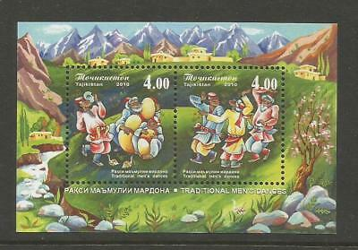 TAJIKISTAN 2010 Traditional Men's Dances. MNH