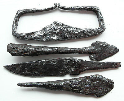 Genuine Viking iron artefacts.