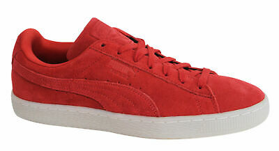 Puma Suede Classic Coloured Red Lace Up Leather Mens Trainers 360850 02 M4