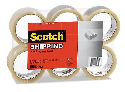 "Scotch - 3350 General Purpose Packaging Tape 1.88"" X 54.6yds Clear 6 Pack - New"