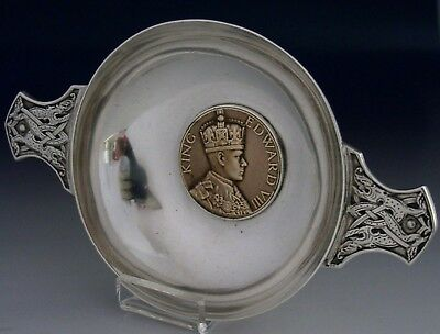 Rare Edward Iii Sterling Silver Coronation Quaich 1936 Royalty Antique