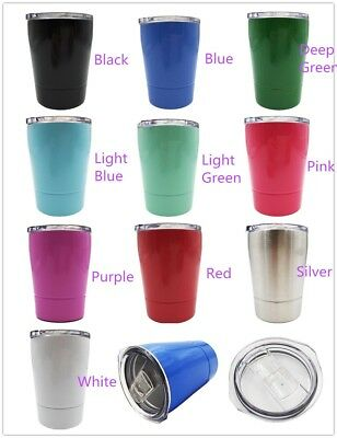 Insulated Stainless Steel 8 oz. Travel Beverage Tumbler Thermos Cups Mini Mug
