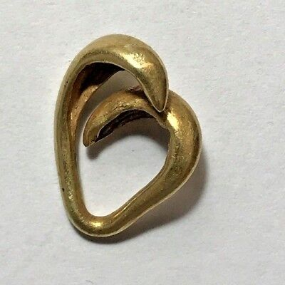 ANCIENT GREEK SOLID GOLD EARRING 1.9gr 15.1mm