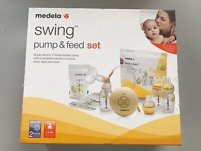 Brand New Medela Swing Electric Breast Pump And Feed Set All In One Set