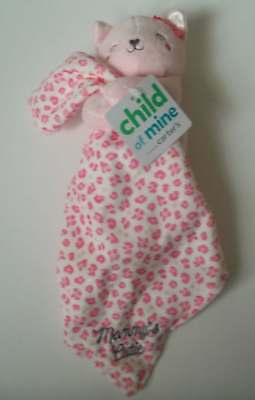 NWT Carter's Child of Mine Pink Printed Kitty Mommy's Security Blanket Lovey