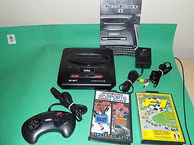 SEGA MEGADRIVE CONSOLE 2 System Includes Games Retro gaming Complete Bundle