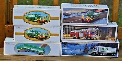 Lot (6) Consecutive 1982-1987 Hess Truck Banks Mint In Boxes